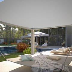 Front yard by Sia Moore Archıtecture Interıor Desıgn, Modern Ceramic