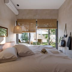 Small bedroom by ARQUITECTURA AC+1, Tropical Stone