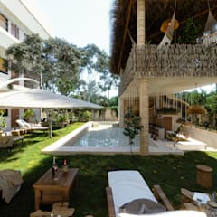 Garden Pool by ARQUITECTURA AC+1, Tropical پتھر