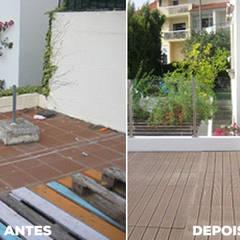 Recuperação total de Moradia antiga M. Estoril t4 Varandas, marquises e terraços clássicas por Wish House Clássico