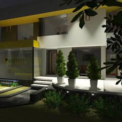 Aurum Consultoría y Mercado: Edificios de oficinas de estilo  por Entropía Arquitectos, Moderno