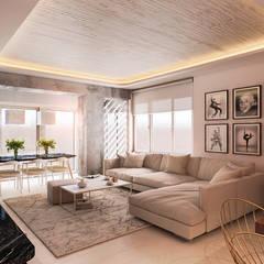 Beta İç Mimarlık – K1 Evi:  tarz Oturma Odası
