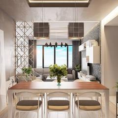 Beta İç Mimarlık – SLD Evi:  tarz Yemek Odası