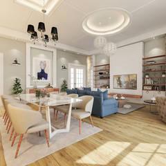 Beta İç Mimarlık – TOSKANA Evleri:  tarz Oturma Odası