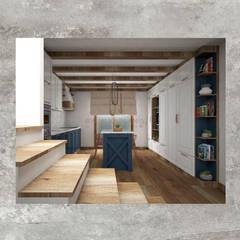 Aylin Kaplan Mimarlık – Villa AE:  tarz Mutfak