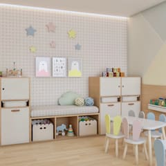 غرفة الاطفال تنفيذ Ana Julia Tavares Arquitetura e Interiores