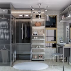 Ruang Ganti oleh Ana Julia Tavares Arquitetura e Interiores