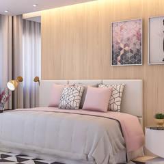 غرفة نوم تنفيذ Ana Julia Tavares Arquitetura e Interiores, تبسيطي