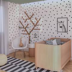 комнаты для новорожденных в . Автор – Ana Julia Tavares Arquitetura e Interiores