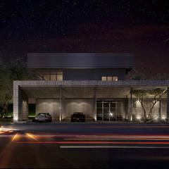 Garajes abiertos de estilo  por Metaphor Design Studio