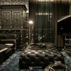 The Dark Night:  ห้องนั่งเล่น โดย Metaphor Design Studio, คลาสสิค ไม้ Wood effect