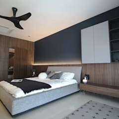 Project BO / IJM Rimbayu:  Bedroom by SIXTH Interior Sdn Bhd