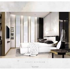 :  ห้องนอนขนาดเล็ก โดย Metaphor Design Studio,