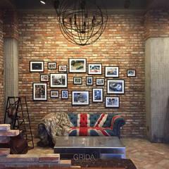 자동차 쇼룸 인테리어- 로터스코리아: 그리다아이디의  거실,인더스트리얼