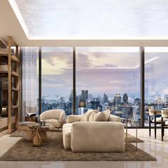 :  ห้องนั่งเล่น by Metaphor Design Studio
