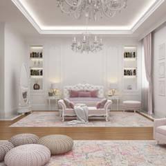 Sia Moore Archıtecture Interıor Desıgn – Majidi Konağı - Erbil / Irak :  tarz Küçük Yatak Odası, Eklektik Masif Ahşap Rengarenk