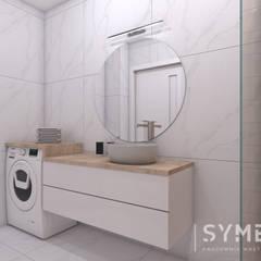 Mieszkanie Młodej Kobiety: styl , w kategorii Łazienka zaprojektowany przez SYME - Pracownia Wnętrz,Nowoczesny