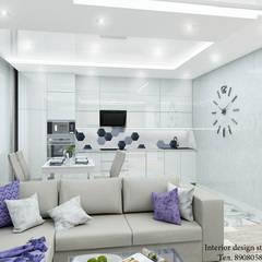 Дизайн интерьера в ЖК Ньютон : Гостиная в . Автор – Студия дизайна Натали