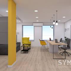 Salon sprzedaży Okien i Drzwi: styl , w kategorii Powierzchnie handlowe zaprojektowany przez SYME - Pracownia Wnętrz