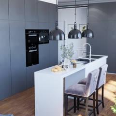 Аппартаменты в Москве: Встроенные кухни в . Автор – Студия интерьеров EGOIST