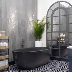 Аппартаменты в Москве: Ванные комнаты в . Автор – Студия интерьеров EGOIST, Эклектичный