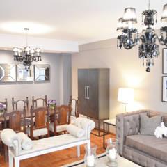 Proyecto Remodelación & Interiorismo Living Comedor: Comedores de estilo  por Estudio Nicolas Pierry