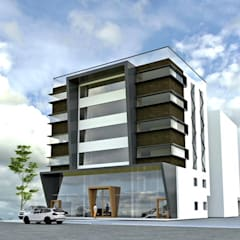 Gachibowli commercial building:  Hotels by Design Cell Int