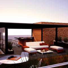 بالکن،ایوان وتراس by Trazo Arquitectonico