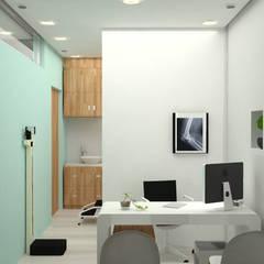 COLSULTORIO LENNIN: Estudios y oficinas de estilo  por Trazo Arquitectonico