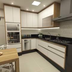 Cozinha planejada por Mello e Hernandes Moderno