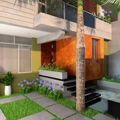 Casas pequeñas de estilo  por Corporación Siprisma S.A.C