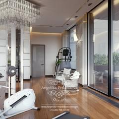 Gimnasios en casa de estilo  por Дизайн-студия элитных интерьеров Анжелики Прудниковой, Minimalista