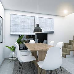 Proyecto Felix: Comedores de estilo  por CODIAN CONSTRUCTORA, Escandinavo