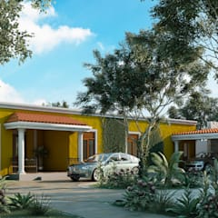 Casas de campo de estilo  por FASCA