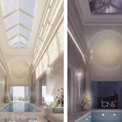 Refreshing Roman Style Indoor Pool – Design Ideas from IONS Design:  Terrace by IONS DESIGN