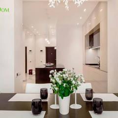 Ремонт однокомнатной квартиры 59 кв. м в современном стиле: Столовые комнаты в . Автор – ЕвроДом,