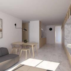Reforma de apartamento en Córdoba: Comedores de estilo  de POA Estudio Arquitectura y Reformas en Córdoba