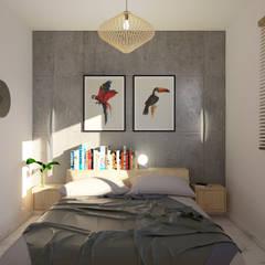 Bedroom by POA Estudio Arquitectura y Reformas en Córdoba, Tropical Concrete