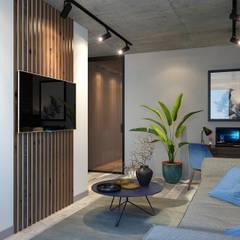 ห้องนั่งเล่น by dm-interiors.com.ua