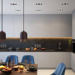 Визуализация проекта 2-х комнатной квартиры, г.Киев: Гостиная в . Автор – dm-interiors.com.ua