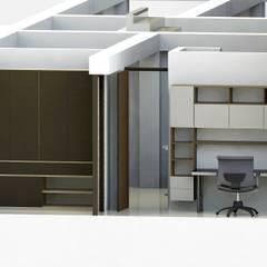 Edificio Muriel Córdoba: Habitaciones pequeñas de estilo  por MARROOM   Diseño Interior - Diseño Industrial