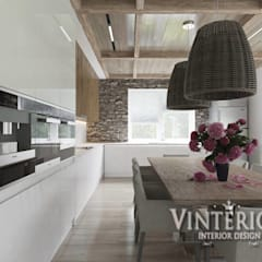 House in a modern style with elements of country, Bobritsa من Vinterior - дизайн интерьера بلدي