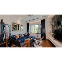 NS house / พระราม2:  ห้องนั่งเล่น โดย Thaan Studio , ผสมผสาน
