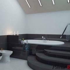 Приватный будинок в с. Крюківщина:  Ванна кімната by Дизайн студія 'Porta Rossa'