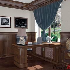 Приватный будинок в м. Монастирище:  Офіс by Дизайн студія 'Porta Rossa'