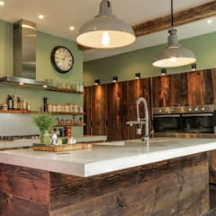 Built-in kitchens by Brandler London, Eclectic Solid Wood Multicolored