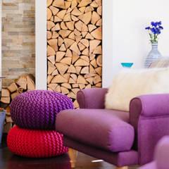 Mill Barn, Cardinham:  Living room by Perfect Stays