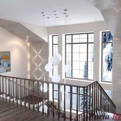Дизайн студія 'Porta Rossa'의  계단, 북유럽