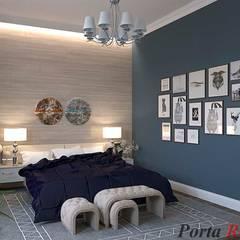 Приватный будинок в с. Забір'я:  Спальня вiд Дизайн студія 'Porta Rossa', Скандинавський