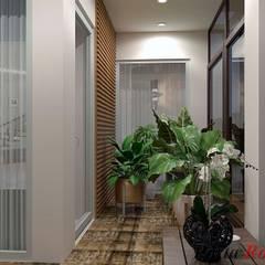 Приватный будинок в с. Кюрківщина:  Коридор by Дизайн студія 'Porta Rossa'